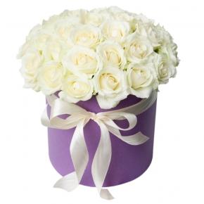 БЕЛЫЕ РОЗЫ 31 роз